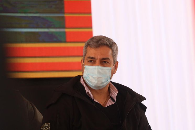 El presidente Mario Abdo Benítez en la inauguración de Pabellón de Contingencia y habilitación de mejoras en el Hospital Regional de Concepción.