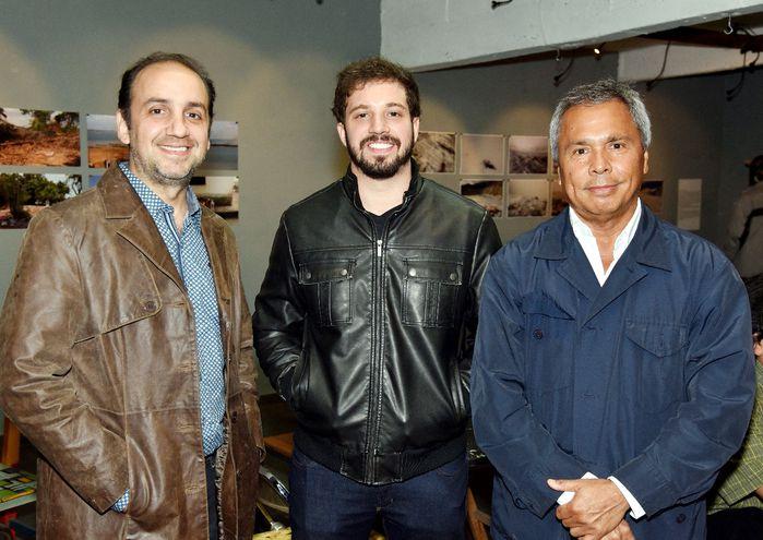 Daniel Pascuali, Stefano Orlandi y Rodolfo Oviedo.