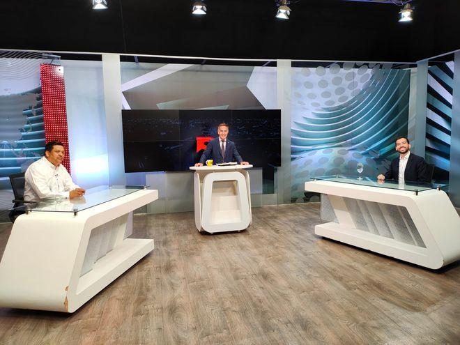 Rojas y Carrizosa durante el programa Mesa de Periodistas.
