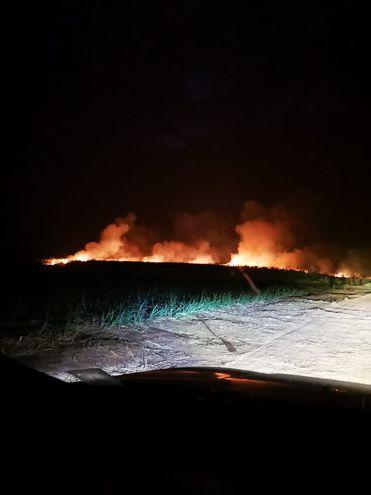 Incendios en Amambay.