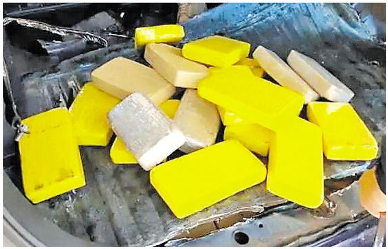 El vehículo en el que iban los paraguayos transportaba 38 tabletas de pasta base de cocaína y 33 de clorhidrato de la droga.