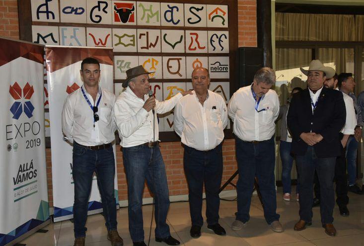 Miguel Ángel Ruiz, Luis VIllasanti, Gustavo Volpe, Enrique Duarte y Manuel Cardozo, organizadores de la Expo 2019.