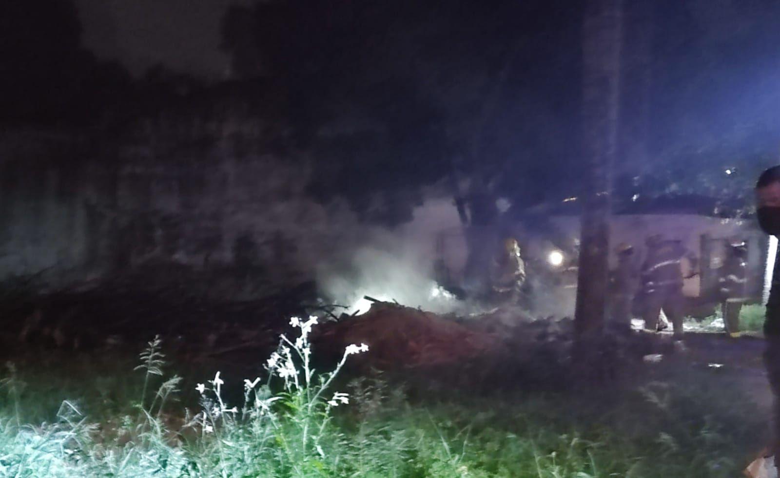 Incendio de basural en Fernando de la Mora Zona Sur.