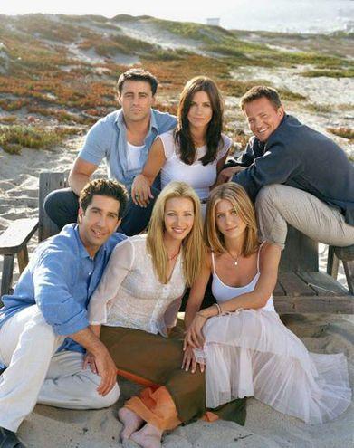 "David Schwimmer, Matt LeBlanc, Lisa Kudrow, Courtney Cox, Jennifer Aniston y Matthew Perry, los protagonistas de ""Friends""."