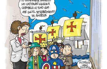 Colón y los superhéroes.