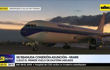 Histórico: Ya se reanudó conexión Asunción- Miami