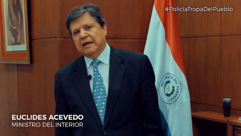 Ministro del Interior, Euclides Acevedo.