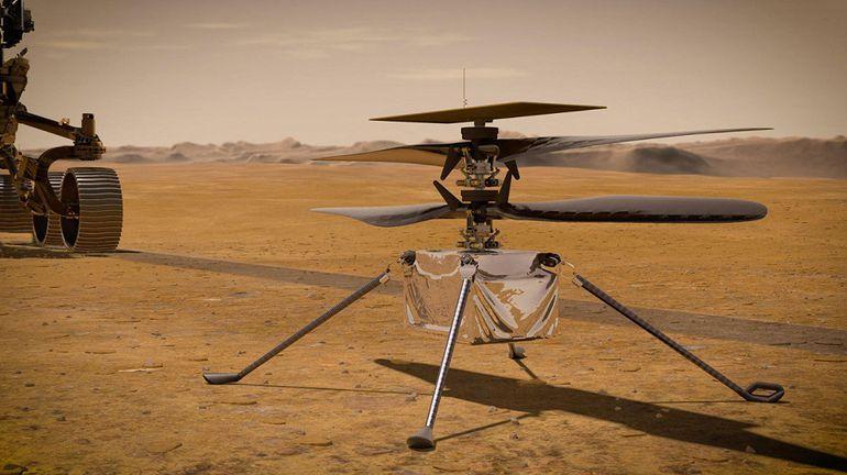 El helicóptero marciano de la NASA ya cumplió con éxito dos pruebas.  (archivo)