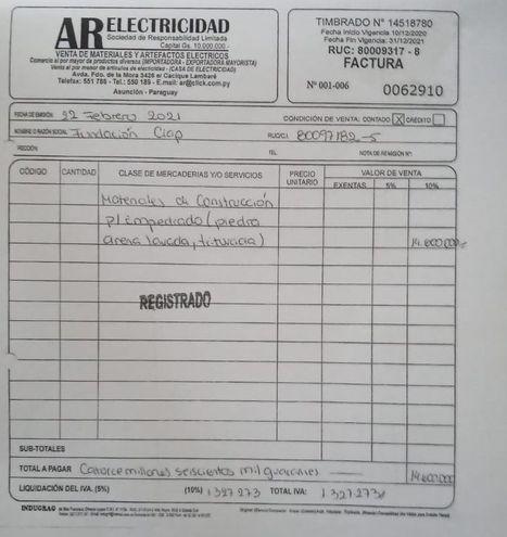 Desde AR Electricidad, se informó que la fundación CIAP no es cliente de la empresa.