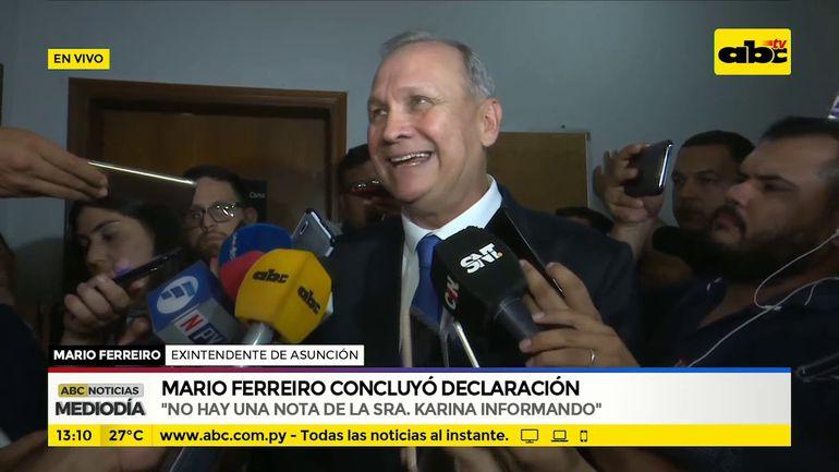 Mario Ferreiro concluyó declaración