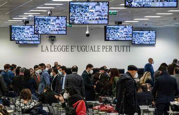 Una vista general del juzgado donde seránn enjuiciados más de 350 supuestos miembros de la 'Ndrangheta calabresa.