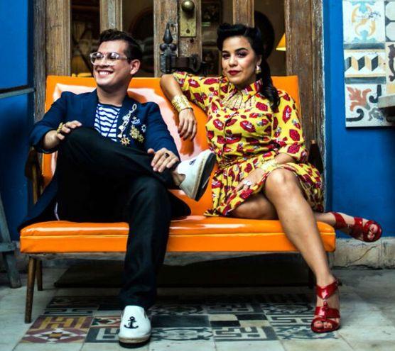 El dúo Purahéi Soul, con temas de jazz, guarania, soul, pop y polcas.