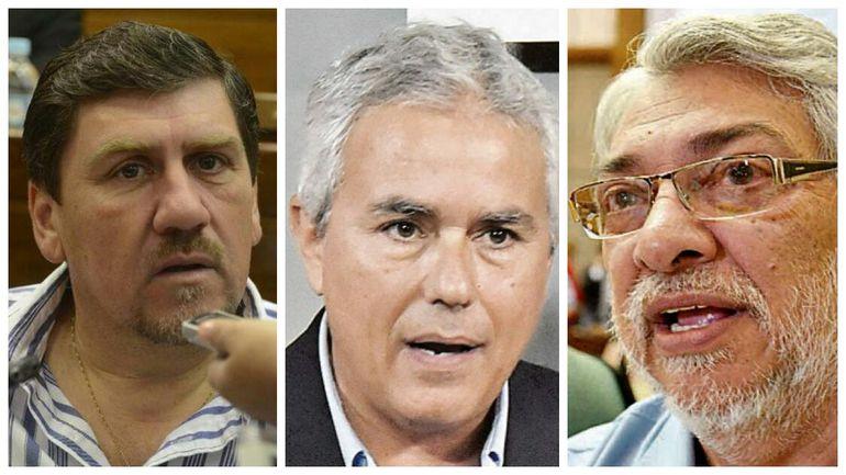 Blas Llano, Fidel Zavala y Fernando Lugo, senadores demandados por filiación.