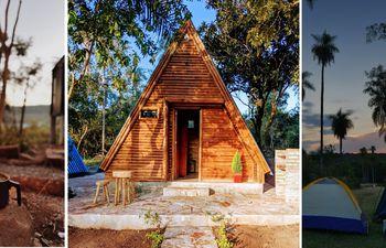 Una acogedora cabaña o un área de camping con una bella vista, ambas son buenas opciones para disfrutar del turismo de invierno. Lo que no puede faltar, es una fogata calentita o una buena chimenea.