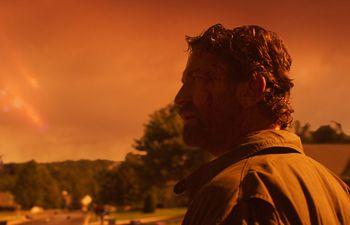 """Gerard Butler en """"El día del fin del mundo""""."""