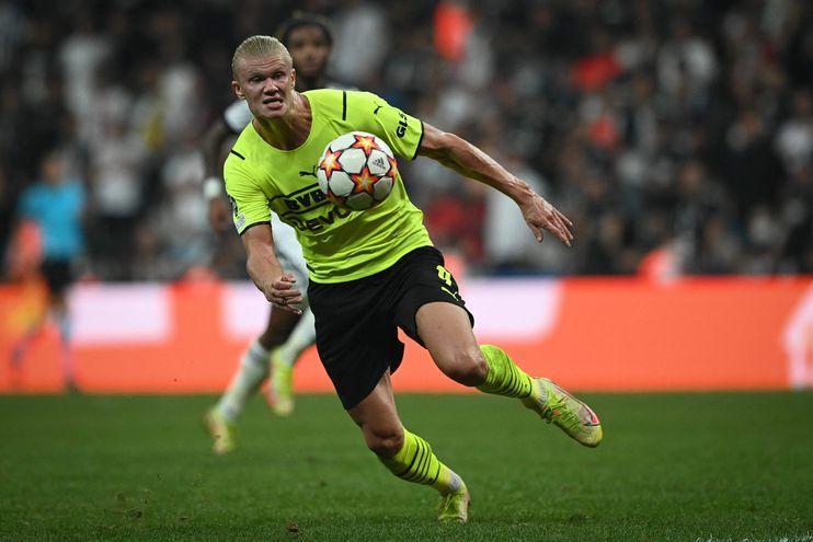 Erling Haaland volvió a marcar en la Liga de Campeones para el Borussia Dortmund