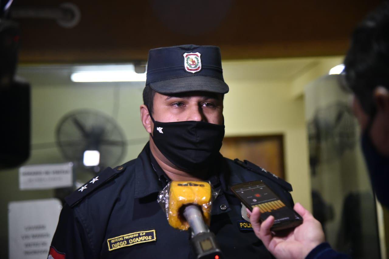 Oficial primero Diego Ocampos, de la comisaría 55a. Central.