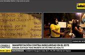 Manifestación contra inseguridad en Ciudad del Este