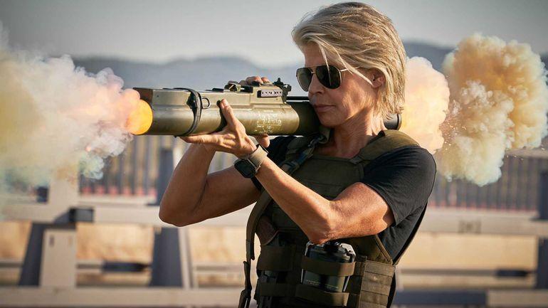 "Linda Hamilton en ""Terminator: Destino Oculto""."