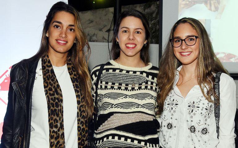 Betha Orrego, Romina Mereles y Marianne Petit.
