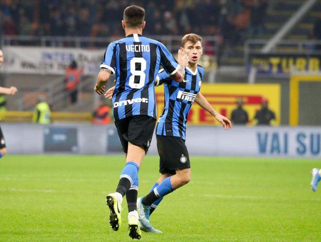 Matías Vecino anotó un gol en la victoria del Inter de Milán.