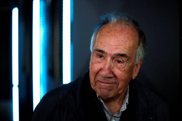 El poeta Joan Margarit después la rueda de prensa ofrecida en Barcelona tras ser galardonado con el Premio Cervantes 2019.