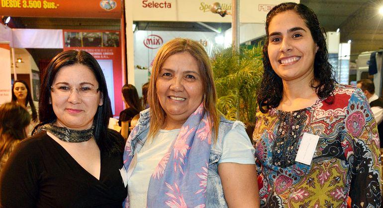 Victorina Zaracho, Mirna Caballero y Angélica Galeano.