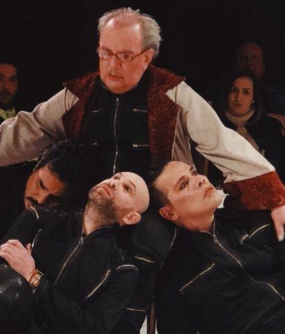 Roberto Cardozo, Juan Carlos Moreno, Jork Aveiro y Omar Mareco, en escena.