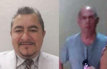 Gabriel Quintana (i), el denunciante. A la derecha, Juan Castillo Rangel, el denunciado.