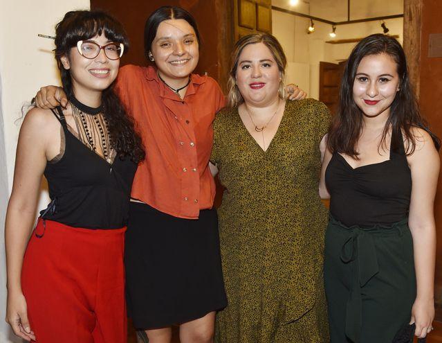 Fátima Barúa, Cecilia Avati Fernández, Ariana Gómez y  Raquel Cuéllar.