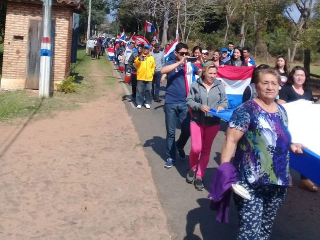Los ciudadanos pidieron también la defensa de la soberanía energética.