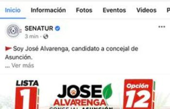 Concejal utiliza red social de Senatur para campaña