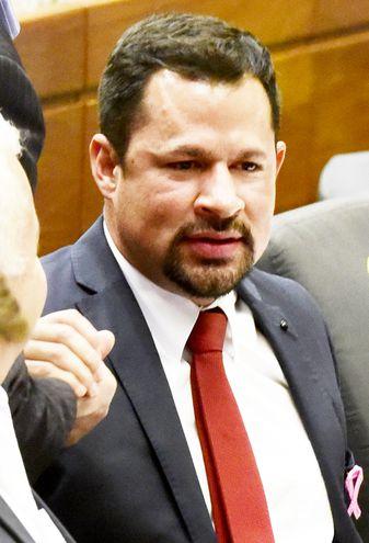 El acusado diputado Ulises Quintana (ANR, Añetete).