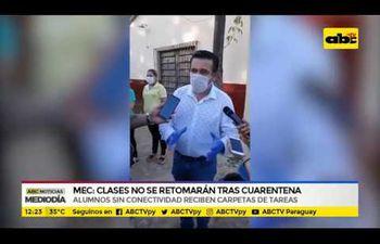 MEC: Clases no retomarán tras cuarentena