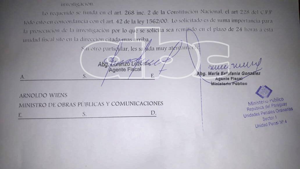 Fiscalía solicitó informe sobre reguladas al MOPC.