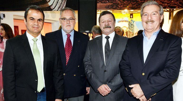 Jorge Pappalardo, José Ramón Franco Tubino. embajador de Colombia,  Javier A. Flórez; y Miguel Carrizosa Galiano.