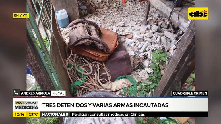 Cuádruple homicidio en el chaco: Tres detenidos y varias armas incautadas