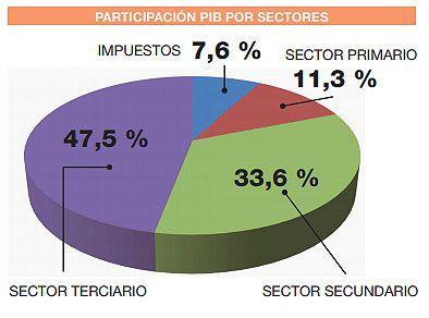 PARTICIPACIÓN PIB POR SECTORES