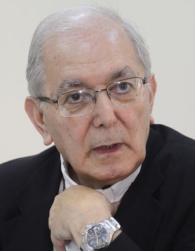 Monseñor Edmundo Valenzuela, arzobispo de Asunción. Admitió que se equivocó en calificar el acuerdo de abortista.