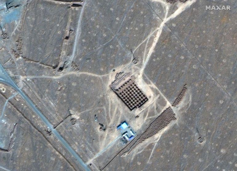 Vista aérea de la planta de enriquecimiento de Fordow, en Irán.