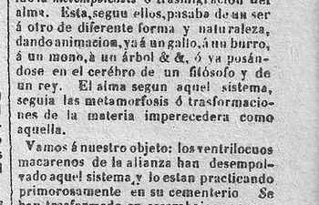 Semanario de Avisos y Conocimientos Útiles, 12 de septiembre de 1867.     Epígrafe El Centinela, 1867.