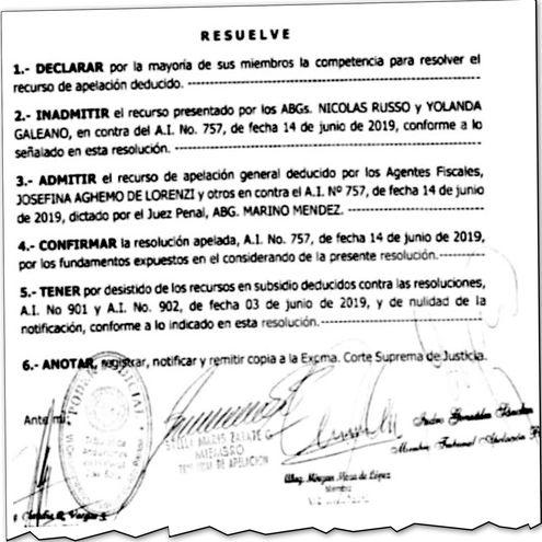 Camaristas que blanquearon al imputado senador Zacarías Irún (cartista) utilizaron los argumentos del juez Méndez.