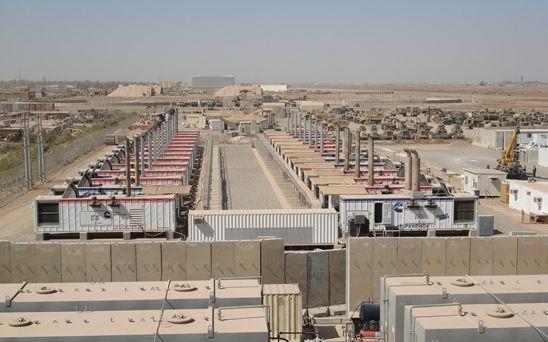 Centrales en Irak.