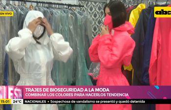 Trajes de bioseguridad a la moda