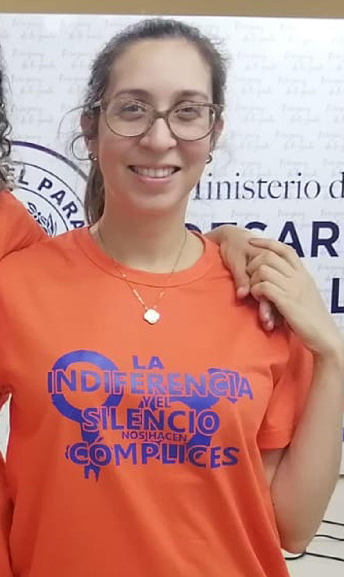 Rosana Encina del sindicato SITRASAS.