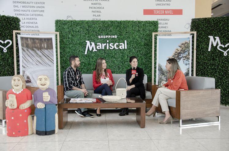 Un aspecto de la reunión de prensa en la que se informó sobre la exposición de artesanía que se realizará en el Shopping Mariscal.