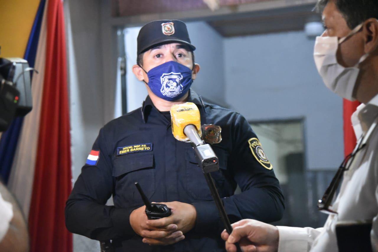 Oficial Eber Barreto, comisaría 3a. Central de Luque.