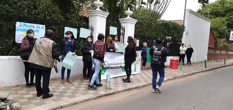 Manifestación por Juliette, la niña desaparecida en abril pasado