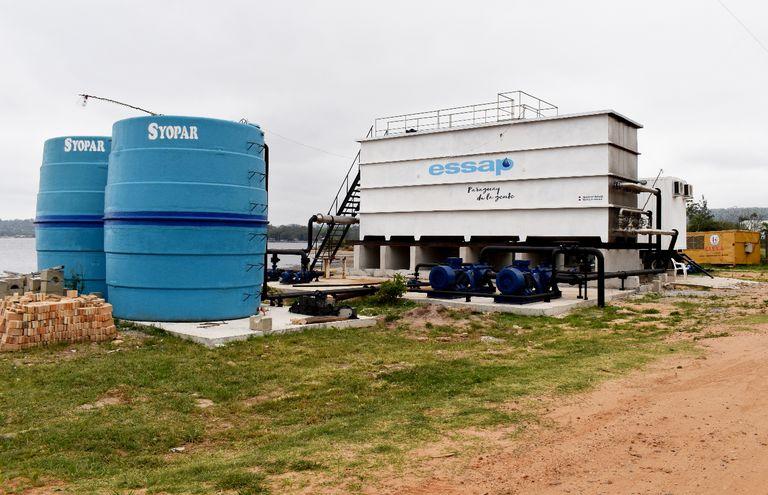 La planta de tratamiento móvil de la Essap sigue sin funcionar, pese a que se presentó como una solución rápida a la falta de agua potable en San Bernardino.