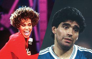 Whithey Houston y Diego Maradona son celebridades que han tenido problemas con el consumo de drogas.